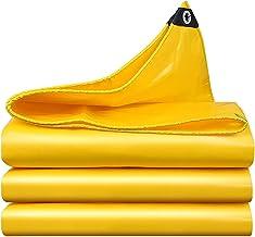 ZZYE Dekzeil Multifunctionele zeilen geel zware canvas gebruikt voor tent auto dak slijtvaste waterdicht, 450 g/m² zonneze...