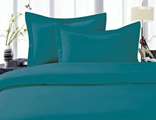 Elegant Comfort 1500 Thread Count Egyptian Quality Super Soft Wrinkle Free 3-Piece Duvet Cover Set, Full/Queen, Turqouise