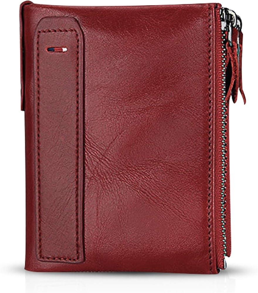 Fandare portafoglio porta carte di credito con protezione anticlonazione unisex in pelle AK-BV003