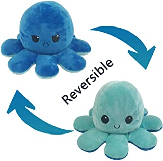 DK DKMG Cute plushies Reversible Octopus Plush Stuffed Animals and Plush Toys Double-Sided Flip Octopus (Blue)