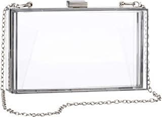 Women Clear Crossbody Bag Purses NFL Stadium Approved Box Clutch Handbags