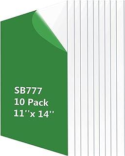 (10 Pack)11x14 Clear PET Sheet Panel-Flexible PET Plastic Sheet,Alternative to Glass,PET Plexiglass Sheet Used for Poster/...