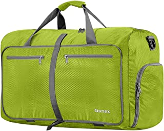 Gonex 40L Packable Travel Duffle Bag for Boarding Airline, Lightweight Foldable Gym Duffle Water Repellent & Tear Resistant