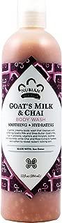 NUBIAN HERITAGE Body WASH,Goats MLK&CHAI, 13 FZ, 2 Pack