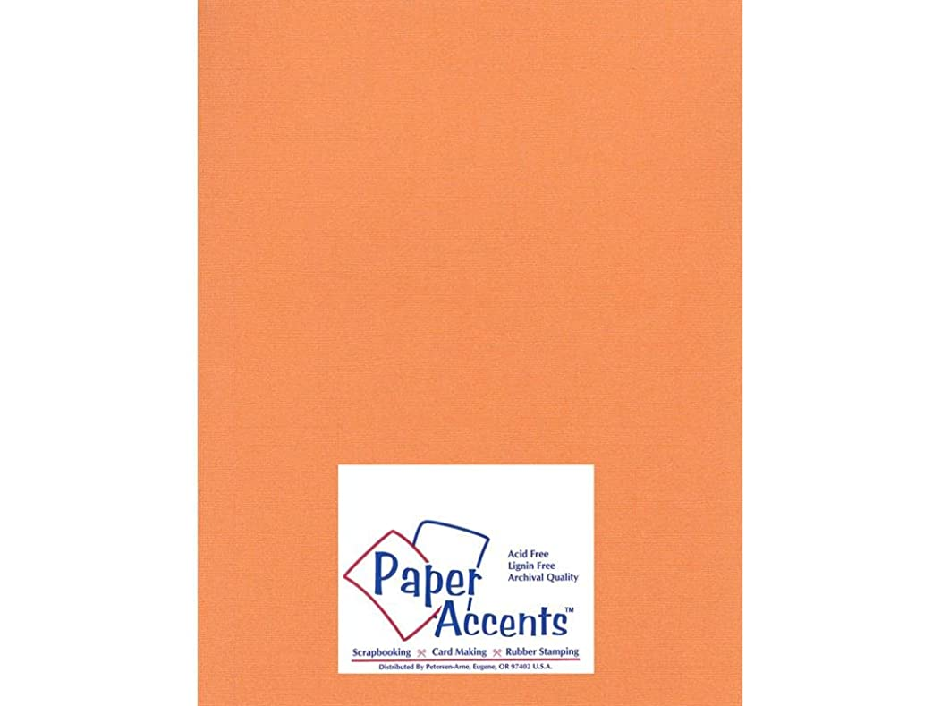 Accent Design Paper Accents Cdstk Glimmer 8.5x11 80# Bittersweet