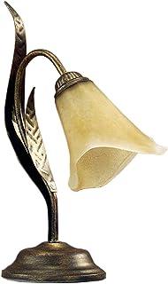 onli Alga lámpara de mesilla estilo clásico, Marrón