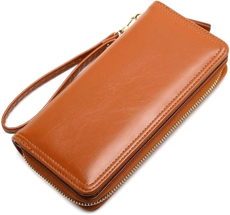Girls Purse Women's Wallet,Wallet PU Leather Women's Mobile Bag Long Zipper Bill Clip 19  9.5  3.5cm (color   A)