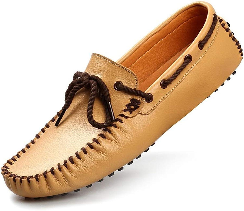 schuheDQ Mokassin-Müiggnger aus Leder mit Schnürung für Herren Comfort-Penny-Müiggnger-Stiefelschuhe Mokassin