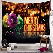 Eanpet Christmas Tapestry Wall Hanging Large Xmas Tapestry Hippe Throw Blankets Home Decor Merry Christmas Happy Holiday Winter Tapestries Thanksgiving Dining Tablecloth 60x80 (Xmas Balls)