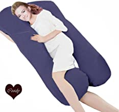 Original Coozly Premium Lyte Navy Body Contour Pregnancy Pillows with Cotton Zippered Covers SF2
