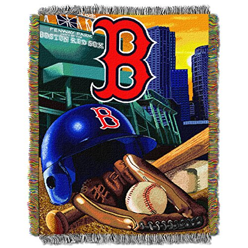 """MLB Boston Red Sox """"Home Field Advantage"""" Woven Tapestry Throw Blanket, 48"""" x 60"""""""