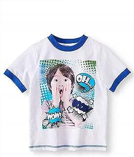 Ryan's World Pocket Watch Boy's Graphic Novelty Tee Shirt OH Boom Wow