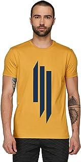 ADRO Men's Cotton Abstract Design Printed Half Sleeve T-Shirt