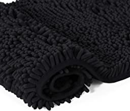 Plush Microfiber Bath Rug 1 Piece Chenille Floor Mat Ultra Soft Washable Bathroom Dry Fast Water Absorbent Bedroom Area Ru...
