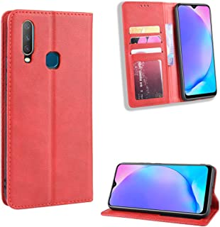 Oujiet-eu HD Case for VIVO Y15 Case Flip leather + TPU Silicone fixing Cover 4