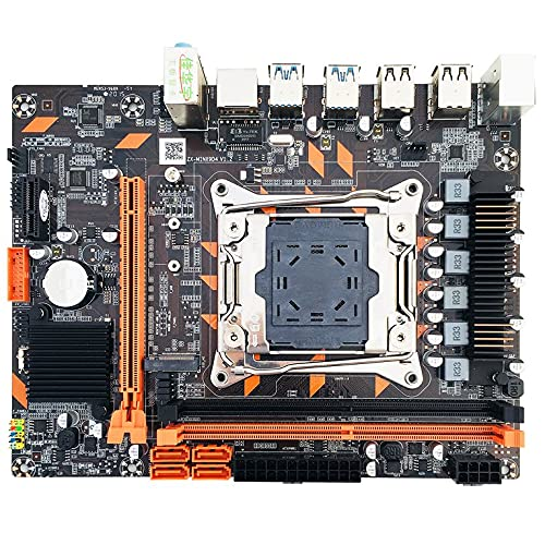 QiKun-Home Ranura para Placa Base X99 DDR4 LGA2011-3 USB3.0 NVME M.2 SSD Compatible con Memoria DDR4 y procesador Xeon E5 V3 D4 RAM Negro