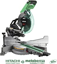 "Hitachi C10FSHC 10"" Sliding Compound Dual Bevel Miter Saw with Laser"