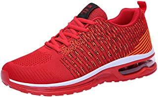 Men's Athletic Sport Shoes Air Cushion Running Shoe Mesh Breathable Sneakers Non Slip Gym Shoe Lace Up Shoe By Lmtime