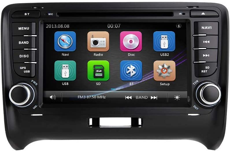 gaoweipeng for Audi TT MK2 67% OFF of Portland Mall fixed price 2007-2011 Car Double Ster Dash Din in