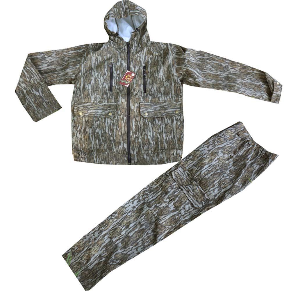 JXS-outdoor Traje de Caza para Hombre de Camuflaje biónico, Camisa y Pantalones Uniformes, Traje a Prueba de Mosquitos Adecuado para la Pesca: Amazon.es: Deportes y aire libre