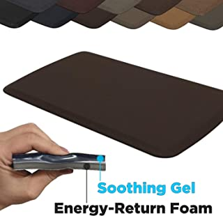 """GelPro Elite Premier Anti-Fatigue Kitchen Comfort Floor Mat, 20x36"""", Linen Truffle Stain Resistant Surface with therapeutic gel and energy-return foam for health & wellness"""