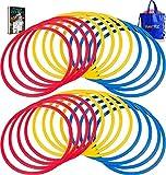 Baytiz | 24 Aros de Agilidad + Bolsa de Transporte - Entrenamiento para la Coordinación y Velocidad - Regalo para Fútbol Deporte Juego de Niños Mochita Supuesto Setos Almohadillas Tàcticas Entrenador