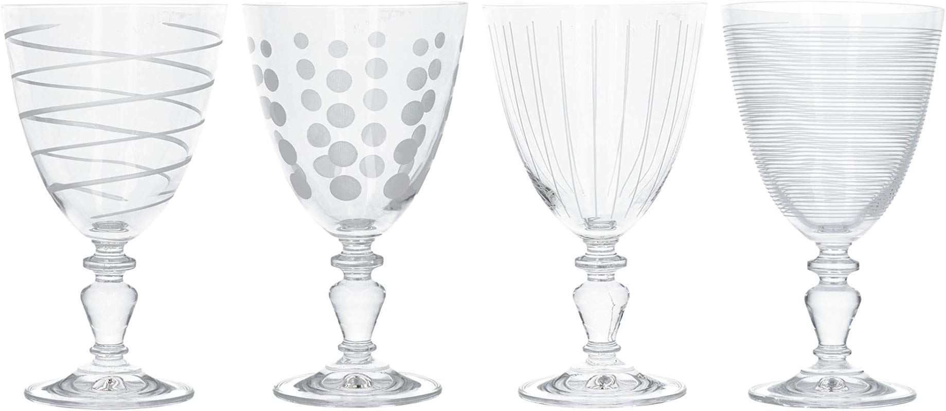 Mikasa Cheers Set Of 4 Goblets Closed Box