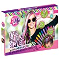 Hair Chalk Set - Creative Hair Chalk Stylist Salon for Girls - Temporary Hair Color Kit with 10 Rainbow Hair Chalk Pens, Glitter Hair Gel, Hair Extensions - Washable Hair Dye Set for Kids Age 6+