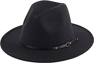 Women Lady Retro Wide Brim Floppy Panama Hat Belt Buckle...