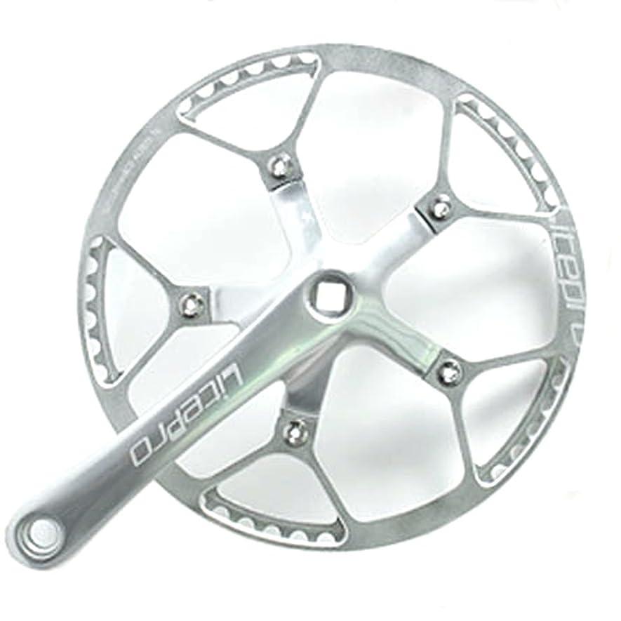 解決するウェイドフェミニンJNP 45T 47T 53T 56T 58T 航空アルミニウム超軽量折りたたみ自転車クランクセットクランク長:170mm