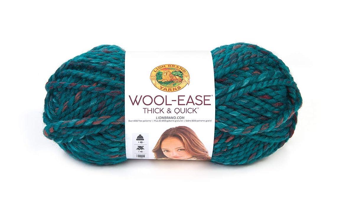 Lion Brand Yarn Wool-Ease Thick & Quick Yarn, Deep Lagoon