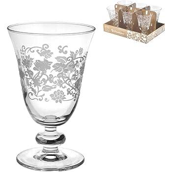 Confezione 3 Bicchieri Calici vetro trasparente 17,5cl BORGONOVO Mughetto per Acqua limonata cocktail vino ristorante bar