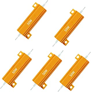5Pcs Aluminium Clad Wirewound Resistor 4.7 Ohm 50W