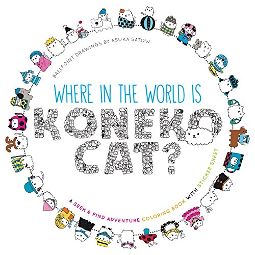 Where in the World Is Koneko Cat? Coloring Book: Coloring Around the World [Idioma Inglés]