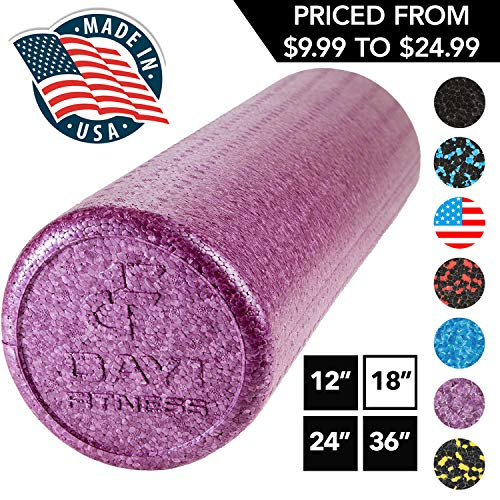 High Density Muscle Foam Rollers by Day 1 Fitness - Sports Massage Rollers for...