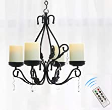 GiveU 3 in 1 Lighting Chandelier, Metal Wall Sconce Set of 2, Table Centerpiece for Indoor or Outdoor, Candles Included, M...