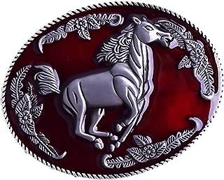 Dolity Oval Vintage Antique Western Indian Rodeo Belt Buckle for Unisex Cowboy Leather Jeans