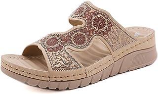 ZAPZEAL Sandale Plats Mules Femme Compensees Été Bohème Plateforme Sandales et Nu-Pieds Vintage Chaussures Talon Bas Confo...