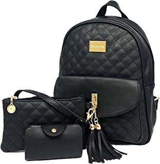 cfd19bca806477 Beylasita® Moda Borsa Zainetto 3 in 1 Set Zaino Donna 3 pezzi Casuale  Daypack Backpack