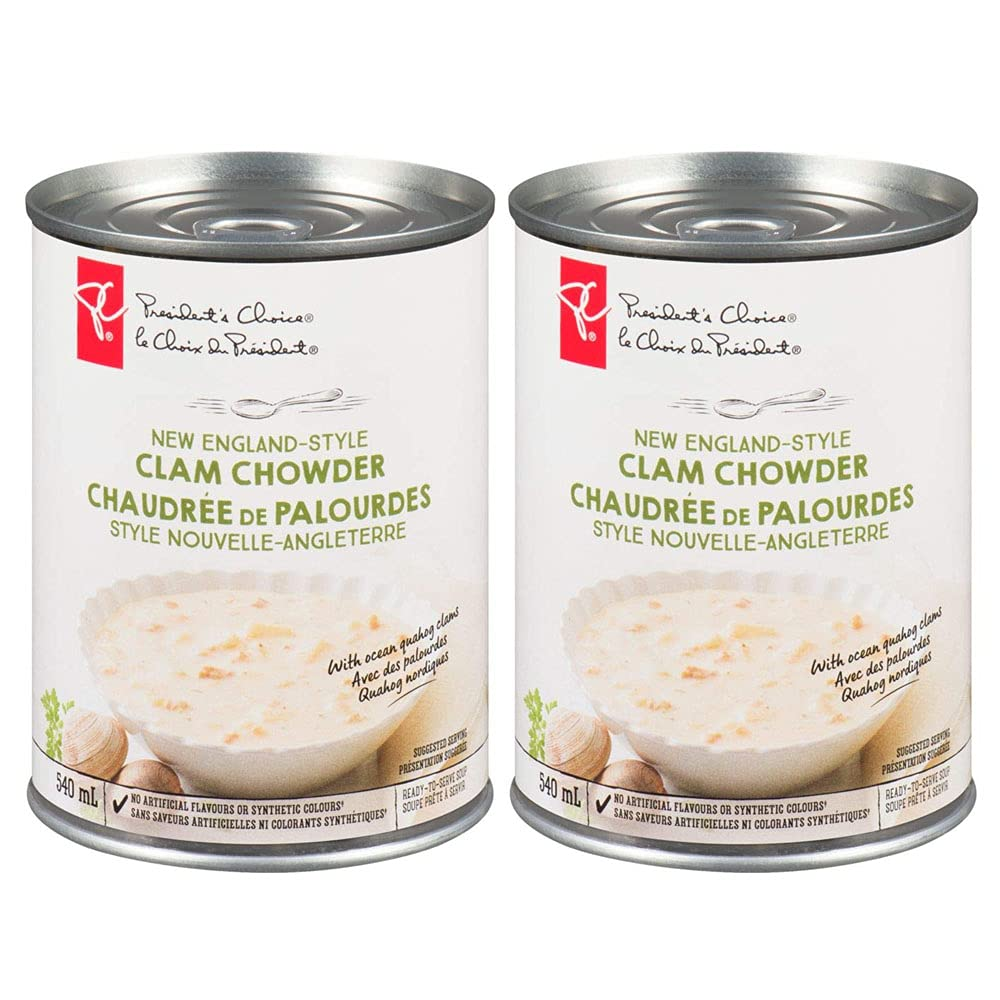 PRESIDENT'S CHOICE New Ranking TOP5 England Style f 18.3 Cheap mail order shopping Clam 540ml Chowder