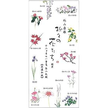 表現社 一筆箋 縦書き 12柄 24枚 美濃和紙 折々の花 十二ヶ月の花 23ー239