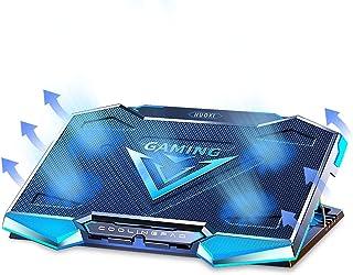 وسادة تبريد للكمبيوتر المحمول للألعاب ، حامل مروحة تبريد للكمبيوتر المحمول 11.6-17.3 بوصة ، 5 مراوح عالية السرعة قابلة للت...