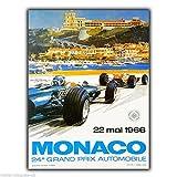Metall Schild Wandschild Vintage Monaco Grand Prix