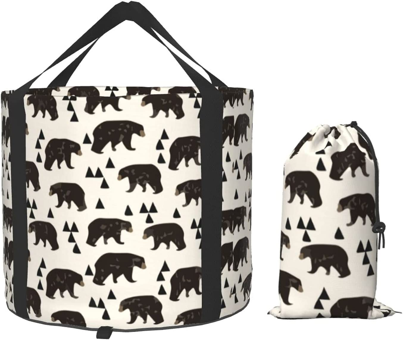 Multifunctional Portable San Francisco Max 64% OFF Mall Collapsible Bucket Bear Woodlan Hipster