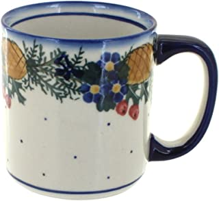 Blue Rose Polish Pottery Pinecone Coffee Mug