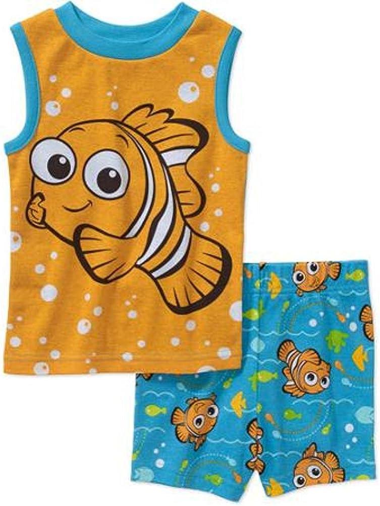 Disney Max 63% OFF Finding Super intense SALE Nemo Little Boy 2 Sleeveless Set Size Pajama 4 PC