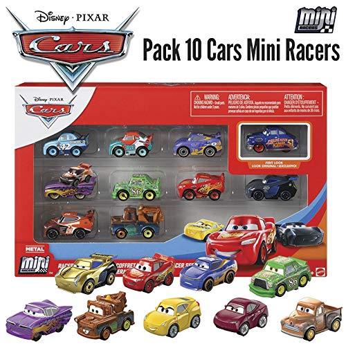 Disney Cars Pack de 10 Mini vehículos Pixar Cars (Mattel GKG08)