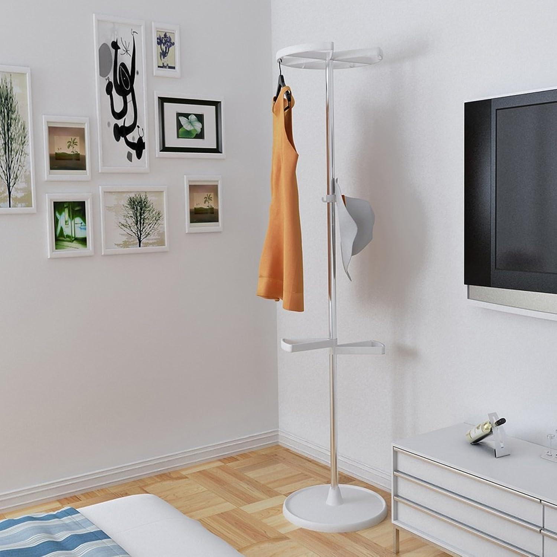 Indoor Simple Modern Hangers Fashion Creative Stainless Steel Multifunction Landing Coat Racks (color   White)