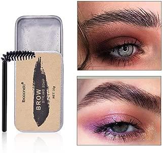 Alacritua Eyebrow Styling Cream,Eyebrow Soap Kit,Brows Styling Soap,Brows Makeup Balm,Eyebrow Styling Soap Gel,3D Feathery Brows Makeup Balm Colorless Long Lasting Natural Eyebrow Soap