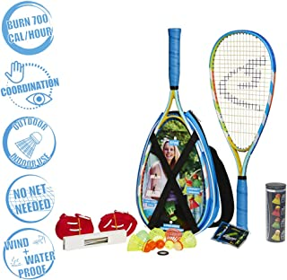Speedminton S700 Set - Original Speed ​​Badminton/crossminton All-Round Set That Includes 2 Rackets, 5 Speeder Tube, Easy Court, Bag